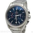 オメガ 腕時計 シーマスター アクアテラ150M コーアクシャル クロノグラフ GMT 自動巻き SS ブルー文字盤 231.10.43.52.03.001 OMEGA ほぼ未使用 【中古】