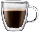咖啡杯杯双层玻璃和双壁保温; Gurasubodamu小酒馆2集 - 0.14L[ボダム ビストロ・ダブルウォール保温マグ エスプレッソ【0.14L】2個セット]