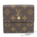 ABランク ルイ・ヴィトン ポルトフォイユ・エリーズ Wホック財布 M61652 モノグラム LOUIS VUITTON ブラウン brown 【中古】
