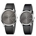 CALVIN KLEIN カルバンクライン CK 時計 メンズ レディース ペアウォッチ スイス製 腕時計 MINIMAL ミニマル 2針 40mm 35mm シルバー×..