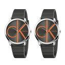 カルバンクライン 腕時計 ペアウォッチ 同じ時計 2本セット ミニマル シンプル ダークグレー ラバー 時計 カジュアル K3M211T3K3M211T3..