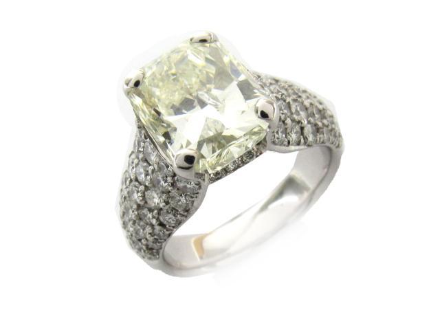 【中古】ジュエリー ダイヤモンド リング 指輪 ノーブランドジュエリー レディース PT900 プラチナ x ダイヤモンド(5.054ct/1.85ct)