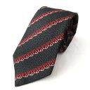 グッチネクタイ衣料品メンズシルクブラックxレッドホワイト|GUCCIBRANDOFFブランドオフブランドスーツ