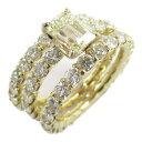 ショッピングブランド ジュエリー 3連 ダイヤモンド リング 指輪 ノーブランドジュエリー レディース ダイヤモンド1.23/1.55/1.68/1.55ct x K18 (イエローゴールド) 【中古】 | JEWELRY BRANDOFF ブランドオフ 宝石 アクセサリー