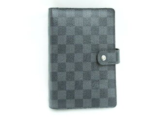 LOUIS VUITTON (Louis Vuitton) agenda MM Handbook / Handbook / Damien grab fit/Damier graphite / (R20242) [BRANDOFF / brand off]