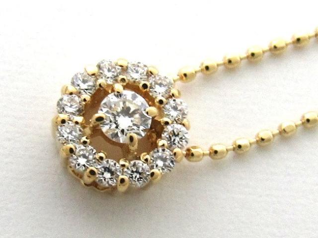 JEWELRY(ジュエリー)/ダイヤモンド ネックレス/ネックレス/K18YG(750) イエローゴールドダイヤモンド0.20ct/【新品】  ブランドオフ ブランド買うならブランドオフ♪ 安心の実績 高価 買取 強化中♪