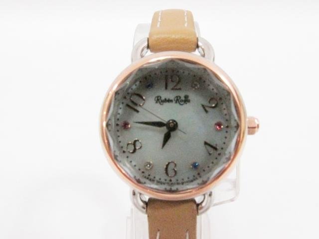 Rubin Rosa(ルビンローザ)/ソーラー腕時計 ウオッチ/クオーツ/シルバー×ゴールド×ベージュ/ステンレススチール(SS)×レザー (R019SOLTBE) 【_包装】 [BRANDOFF/ブランドオフ] ブランド買うならブランドオフ♪