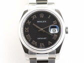 ROLEX(ロレックス)/デイトジャスト 腕時計 ウォッチ/オートマチック/ブラック/ステンレススチール(SS)/【ランクA】(116200)[BRANDOFF/ブランドオフ]【中古】
