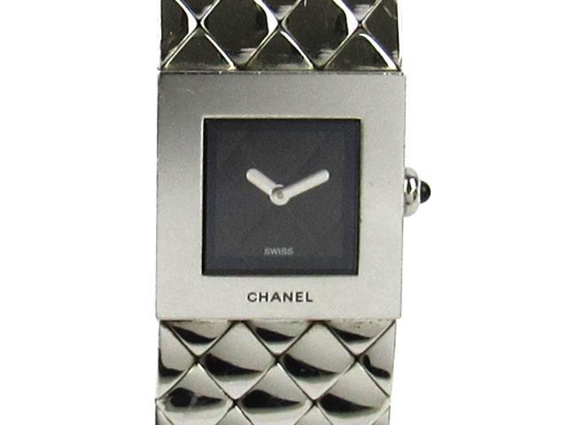 CHANEL(シャネル)/マトラッセ 腕時計 ウォッチ/クオーツ/ブラック/ステンレススチール(SS)/【ランクA】(H0009)[BRANDOFF/ブランドオフ]【】 【送料無料】【】 カード分割