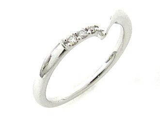[點達 35 倍 ! : 4 ° C (yondosce) / 鑽石戒指 / 環戒指 /K10WG (白金) x 鑽石或等級 A / 6,[布蘭多夫 / 關閉品牌] [使用]