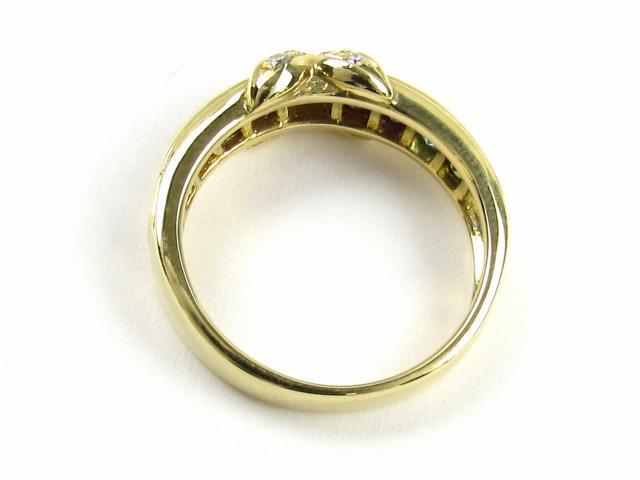 カラーストーン ダイヤモンド 指輪 リング