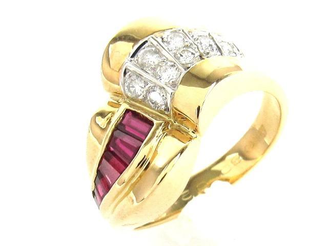 JEWELRY(ジュエリー)/ルビー ダイヤモンド リング 指輪/リング/K18YG(750) イエローゴールド x ダイヤモンド0.80ct/0.21ct/【新品】/12.5号 ブランドオフ ブランド買うならブランドオフ♪ 安心の実績 高価 買取 強化中♪