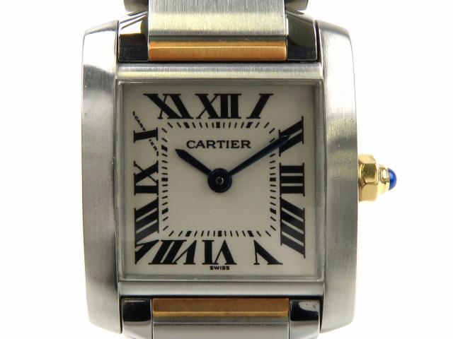 Cartier(カルティエ)/タンクフランセーズSM 腕時計 ウォッチ/クオーツ/アイボリー/K18YG(750)イエローゴールド ステンレススチール(SS)/【ランクA】(W51007Q4) ブランドオフ【】 ブランド買うならブランドオフ♪ 安心の実績 高価 買取 強化中♪