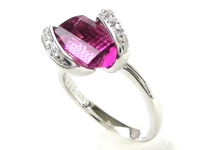 ピンクトルマリン ダイヤモンド リング 指輪