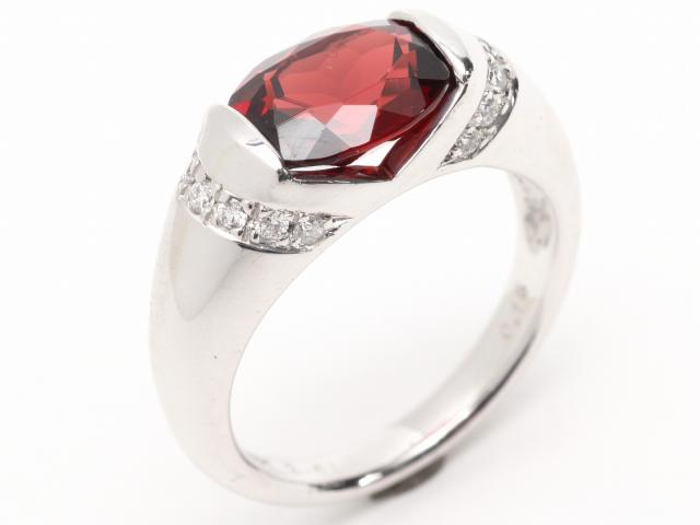 JEWELRY(ジュエリー)/ロードライトガーネット ダイヤモンド リング 指輪/リング/K18WG(750) ホワイトゴールドx ロードライトガーネット(2.61ct) x ダイヤモンド(0.15ct)/【ランクA】/11号 ブランドオフ【】 ブランド買うならブランドオフ♪ 安心の実績 高価 買取 強化中♪かなりの