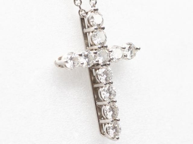 スモールクロスダイヤモンドネックレス