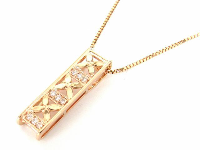 JEWELRY(ジュエリー)/ダイヤモンド ネックレス/ネックレス/K18PG(750) ピンクゴールド x ダイヤモンド0.03ct/【新品】 ブランドオフ ブランド買うならブランドオフ♪ 安心の実績 高価 買取 強化中♪