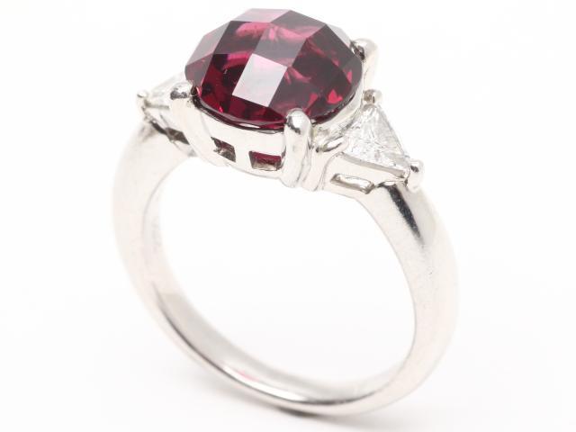 ロードライトガーネット ダイヤモンド リング 指輪