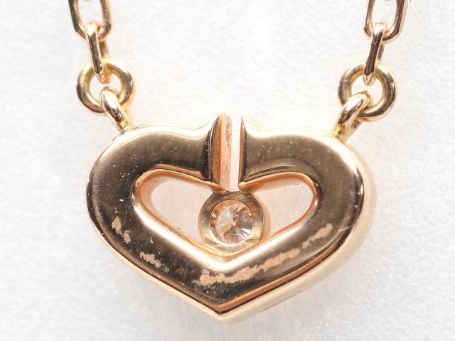 Cハート 1Pダイヤモンド ネックレス