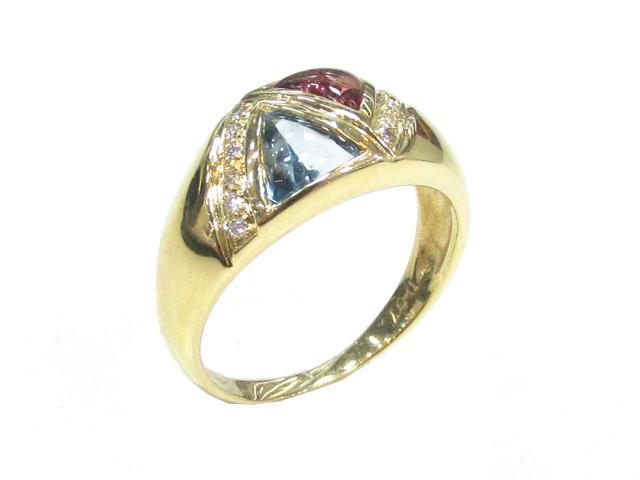 JEWELRY(ジュエリー)/ダイヤモンドリング 色石 指輪/リング/K18YG(750) イエローゴールド×ダイヤモンド(0.07)/【ランクA】/10.5号[BRANDOFF/ブランドオフ]【】 【USED品送料無料】