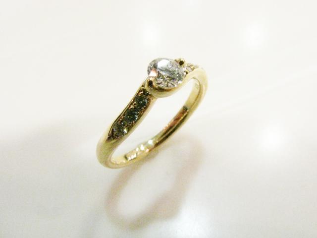 JEWELRY(ジュエリー)/ダイヤモンド リング 指輪/リング/K18YG(750) イエローゴールド×ダイヤモンド(0.20ct/0.05ct)/【ランクA】/11号[BRANDOFF/ブランドオフ]【】 【USED品送料無料】