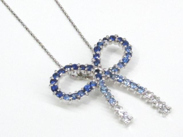サファイヤ ダイヤモンド ネックレス