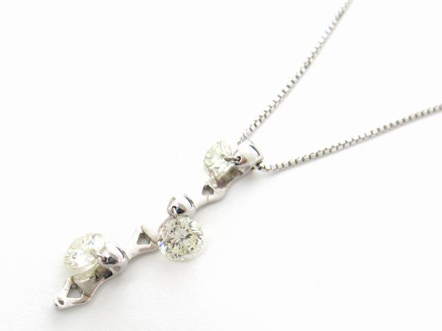 JEWELRY(ジュエリー)/ダイヤモンド ネックレス/ネックレス/K18WG(750) ホワイトゴールド x ダイヤモンド1.00ct/【ランクA】[BRANDOFF/ブランドオフ]【】 【USED品送料無料】