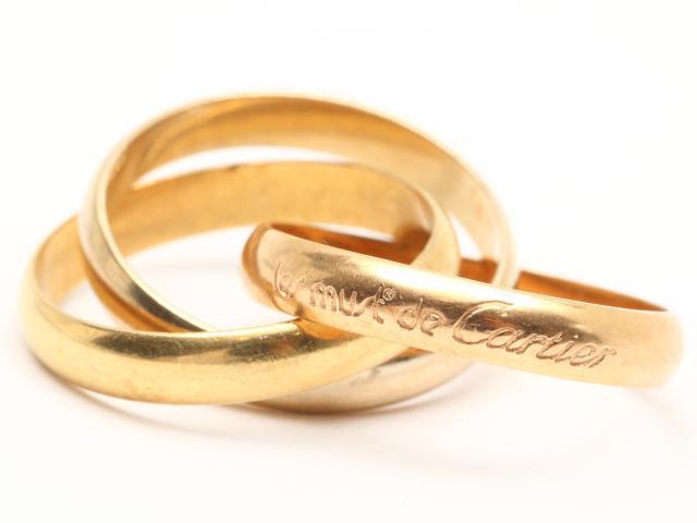 Cartier(カルティエ)/トリニティリング 指輪/リング/K18YG(750) イエローゴールドx K18WG ホワイトゴールド x K18PG ピンクゴールド/【ランクA】/#53/9号[BRANDOFF/ブランドオフ]【】 【USED品送料無料】
