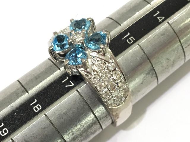 ブルートパーズリング 指輪