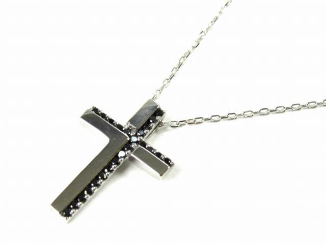 クロス ブラックダイヤモンド ネックレス
