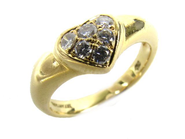 TIFFANY&CO(ティファニー)/ハート ダイヤモンド リング 指輪/リング/K18YG(750) イエローゴールド x ダイヤモンド/【ランクA】/13号[BRANDOFF/ブランドオフ]【】 【USED品送料無料】