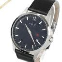 【送料無料】グッチ 男性用 腕時計 クォーツ 革ベルト