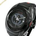 《1200円クーポン対象!9/23(水)23:59まで》グッチ GUCCI メンズ腕時計 SYNC グッチ GUCCI GUCCIシンク 46mm ブラック YA137107A | ブランド