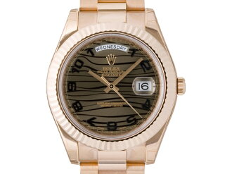[new article] -ROLEX- DaydateII [218235] [brown wave] [self-winding watch] [men]