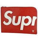 ルイ・ヴィトン Louis Vuitton ポシェット ジュール GM セカンドバッグ シュプリーム Supreme クラッチバッグ エピ レッド M67722 レディース 【中古】
