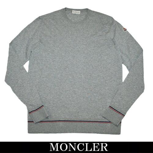 【MONCLER】moncler メンズ モンクレール コットンニット クルーネック グレー 9016300 91027