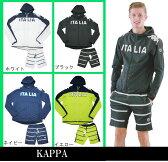 【KAPPA】kappa 2016春夏新作! カッパ  メンズ ストレッチ上下セットアップ(ボーダー柄ハーフパンツ)KM612WT43/KM612SP44