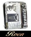 【ROEN】ロエン  ラウンドファスナー コンパクト二つ折り財布 ガゼット柄 (合皮)  3R393006