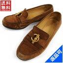 ショッピング閉店 [閉店セール]エルメス HERMES ローファー パンプスシューズ靴 ♯(35・12)金具モチーフ付き 中古 X5429