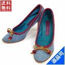 ショッピングマークジェイコブス [半額セール]マークジェイコブス MARC JACOBS 靴 パンプス シューズ靴 ♯(35・12)ハイヒール デニム×リボン 中古 X5538