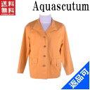 アクアスキュータム メンズ ジャケット Aquascutum サイズ6S シングル ロゴ ポケット付き 人気 激安 【中古】 X5882