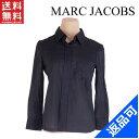 [半額セール]マークジェイコブス MARC JACOBS シャツ シャツブラウス ♯4サイズ 胸ポケット付き ピンストライプ 中古 X7227
