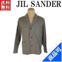 [半額セール]ジルサンダー JIL SANDER ジャケット 裏地タータンチェック 180956 ♯36サイズ 3つボタン テーラード 中古 X7475