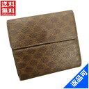 [半額セール]セリーヌ CELINE 財布 二つ折り財布 Wホック財布 マカダム 中古 X10576