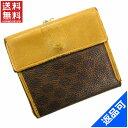 [半額セール]セリーヌ CELINE 財布 二つ折り財布 がま口財布 マカダム 中古 X10577