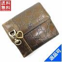[半額セール]グッチ GUCCI 財布 二つ折り財布 Wホック財布 ハートチャーム グッチシマ 中古 X9924