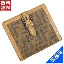 [半額セール]フェンディ FENDI 財布 二つ折り財布 Wホック財布 セレリア ズッカ 中古 X12300