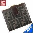 [半額セール]フェンディ FENDI 財布 二つ折り財布 がま口財布 ズッカ 中古 X17146