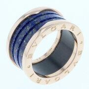 ブルガリ ビーゼロワン ラピスブルー リング 指輪 15号 PG750 ピンクゴールド メンズ BVLGARI 【中古】K71113382 【PD3】
