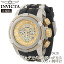 楽天ブランドソムリエ【国内発送】INVICTA (インビクタ) 腕時計 INVICTA Men's Bolt Reserve Chronograph Black Silicone Gold-Tone and MOP Dial Style:0828